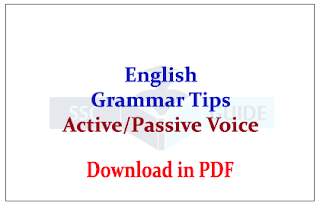 Important English Grammar Tips and rules for Active/Passive Voice