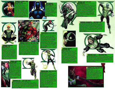 Varios Linternas Verdes ficha dc comics