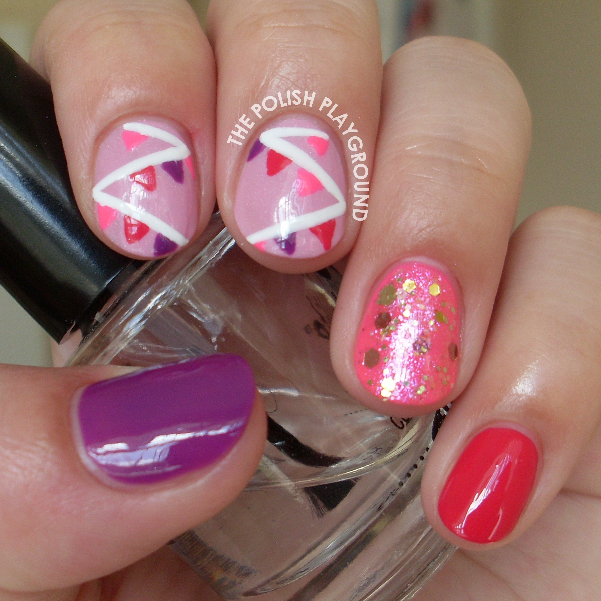 Sweet and Girly Decoration Skittle Nail Art