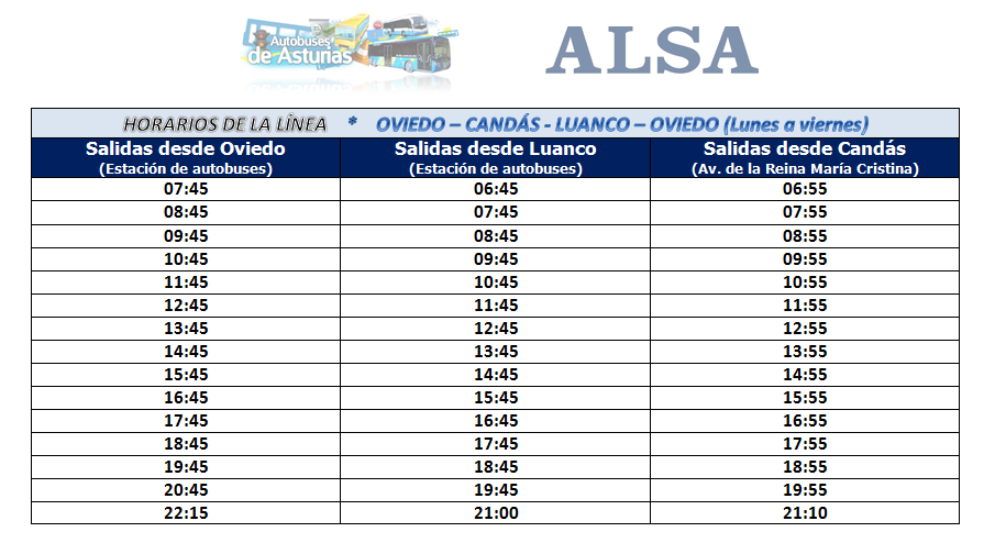 autobuses de asturias horarios y servicios entre oviedo