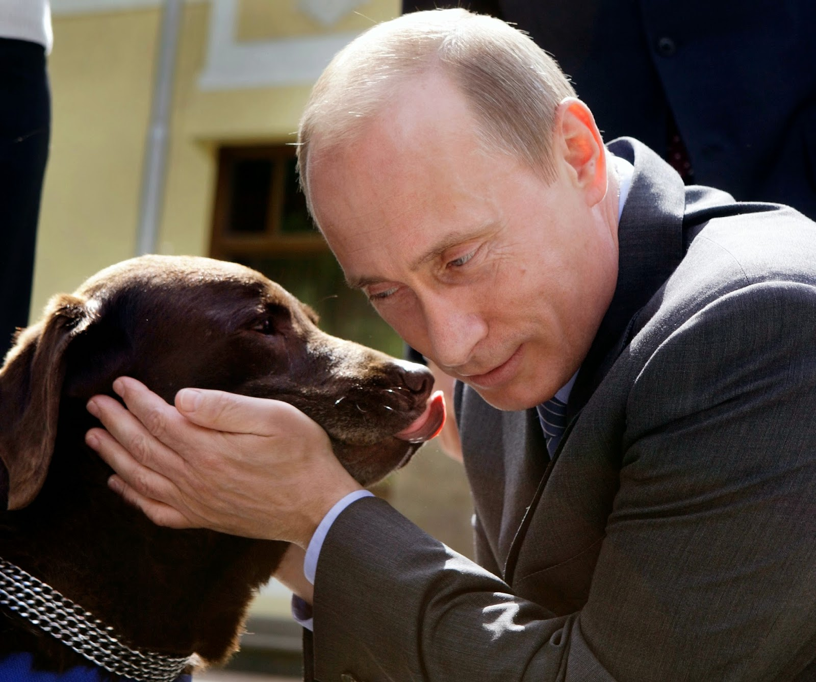 Putin loves his pet dogs and even brings them along to political talks, some suggest to scare fellow world leaders.