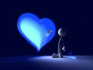 Coeur blue
