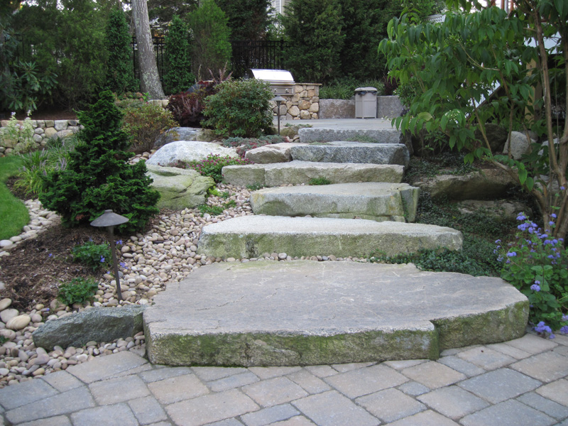 Dry stone building best rock steps for Natural stone around pool
