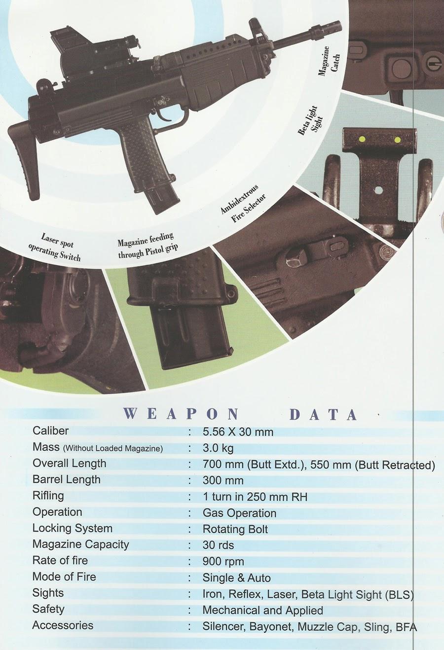 Fuerzas Armadas de la República de la India India's+Modern+Submachine+Carbine+(MSMC)+(2)