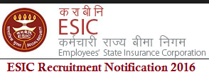 ESIC Recruitment 2016