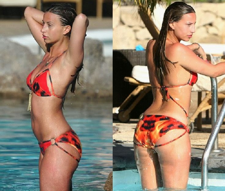 It goes without saying,‭ ‬Ferne McCann has baring it all as she was snapped to catching the sun rays in a red lion bikini at Spain on Saturday,‭ ‬April‭ ‬26,‭ ‬2014.