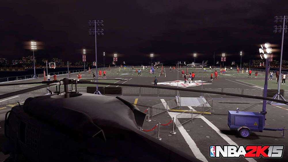 NBA 2K15 New MyPark for Old Town Flyers Screenshot