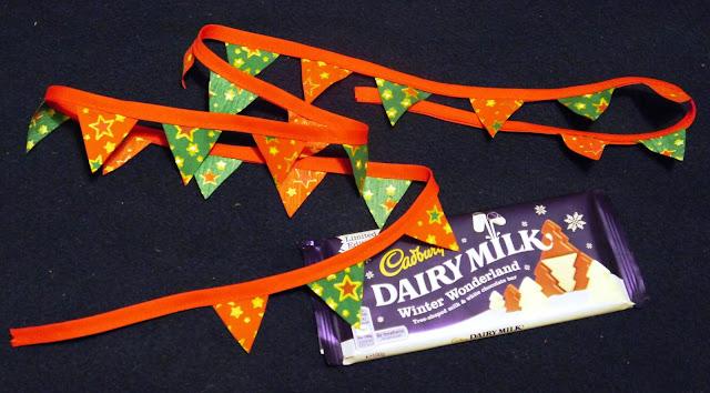 Christmas bunting and chocolate
