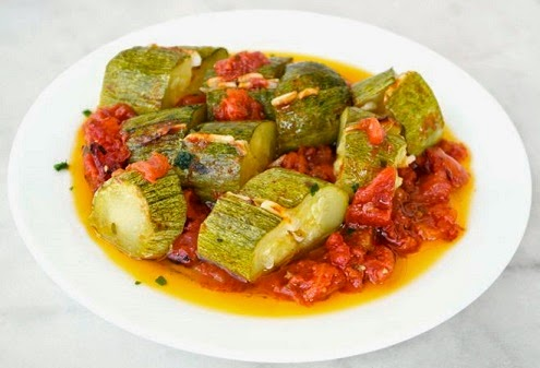 Mediterranean Diet, Zucchini with Garlic and Tomato, The Cretan Diet,