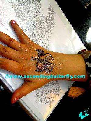 Butterfly, Henna Tattoo, Manicure,