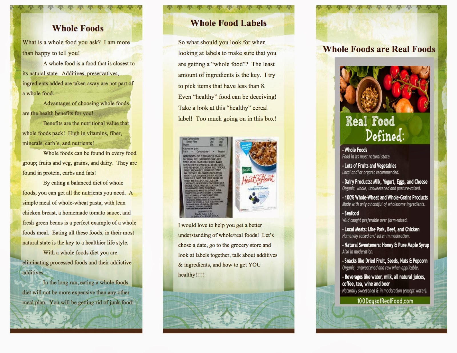 food brochure template | datariouruguay