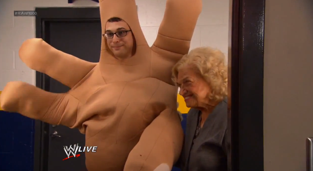 Mae Young WWE Hand Segment Grown Up RAW 1000