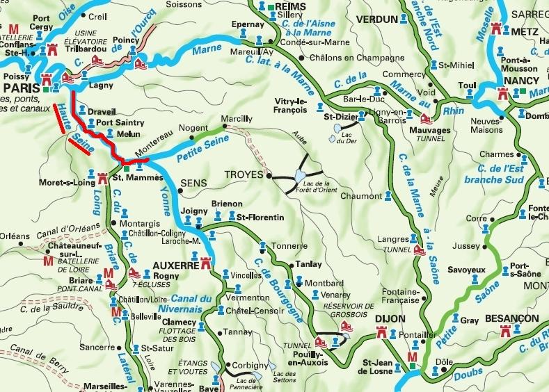 Les voyages du Tiguidou: La Haute Seine (de la jonction avec la Marne à Montereau)