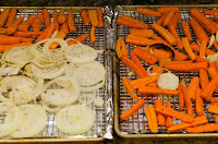Carrots and Onions after Roasting