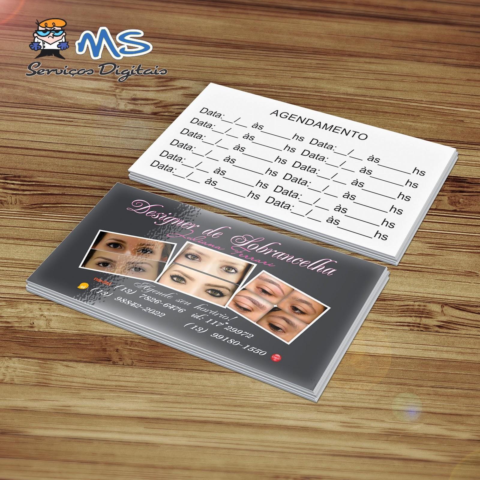 Muitas vezes MS Serviços Gráficos e Digitais: Cartões de Visita - Juliana  SK67
