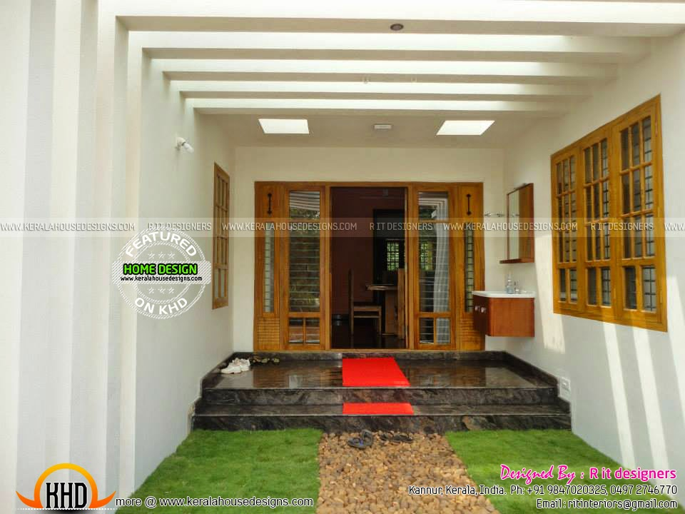 Foyer Plan Kerala : Finished house floor plan and interiors kerala home