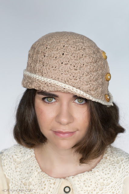 Pattern Crochet Cloche Hat : Hopeful Honey Craft, Crochet, Create: 1920s Caramel ...