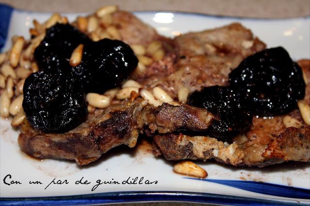 Chuletas de lomo al Oporto