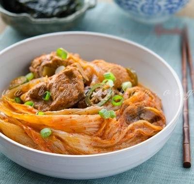 Cách nấu canh Sườn non Kim chi ngon