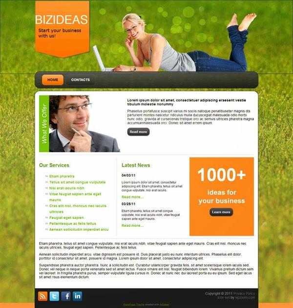 BizIdeas - Free Wordpress Theme
