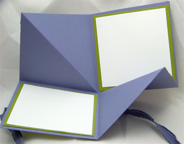This is one of the cards I made at my friends house on Monday. It is an 8X8  square folded inward to create a little booklet.