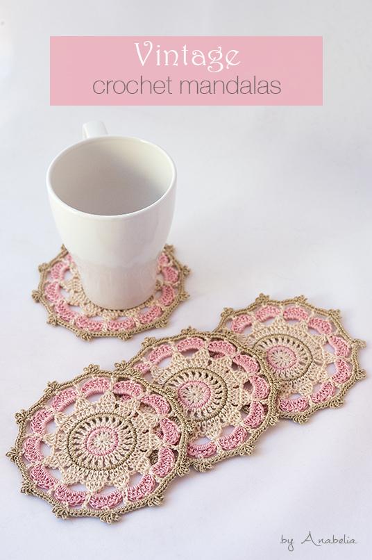 Pink vintage crochet mandalas | Anabelia Craft Design blog | Bloglovin\'