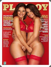 Playboy Débora e Denise Tubino Dezembro 2012