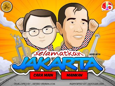 Jokowi Berkampanye Lewat Game Bertajuk Selamatkan Jakarta