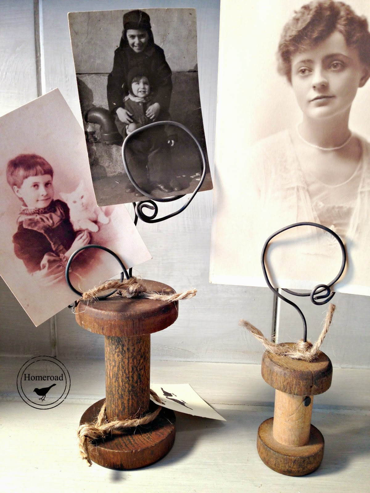 Vintage-spool-photo-holders www.homeroad.net