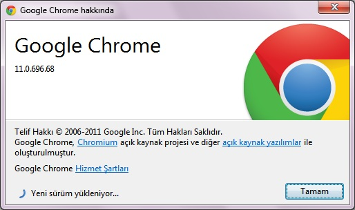 Google Chrome 11.0.696.71