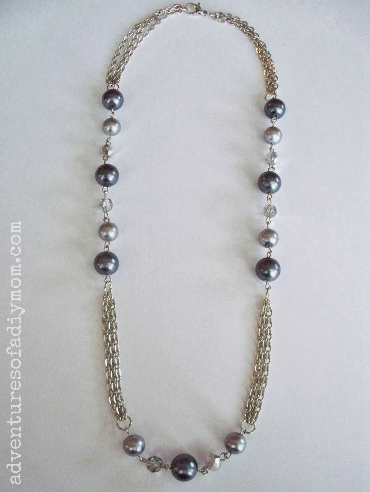 Adventures of a DIY Mom: How to Make a Chain and Bead Necklace