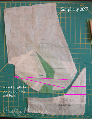 S3697-- lengthening top and band
