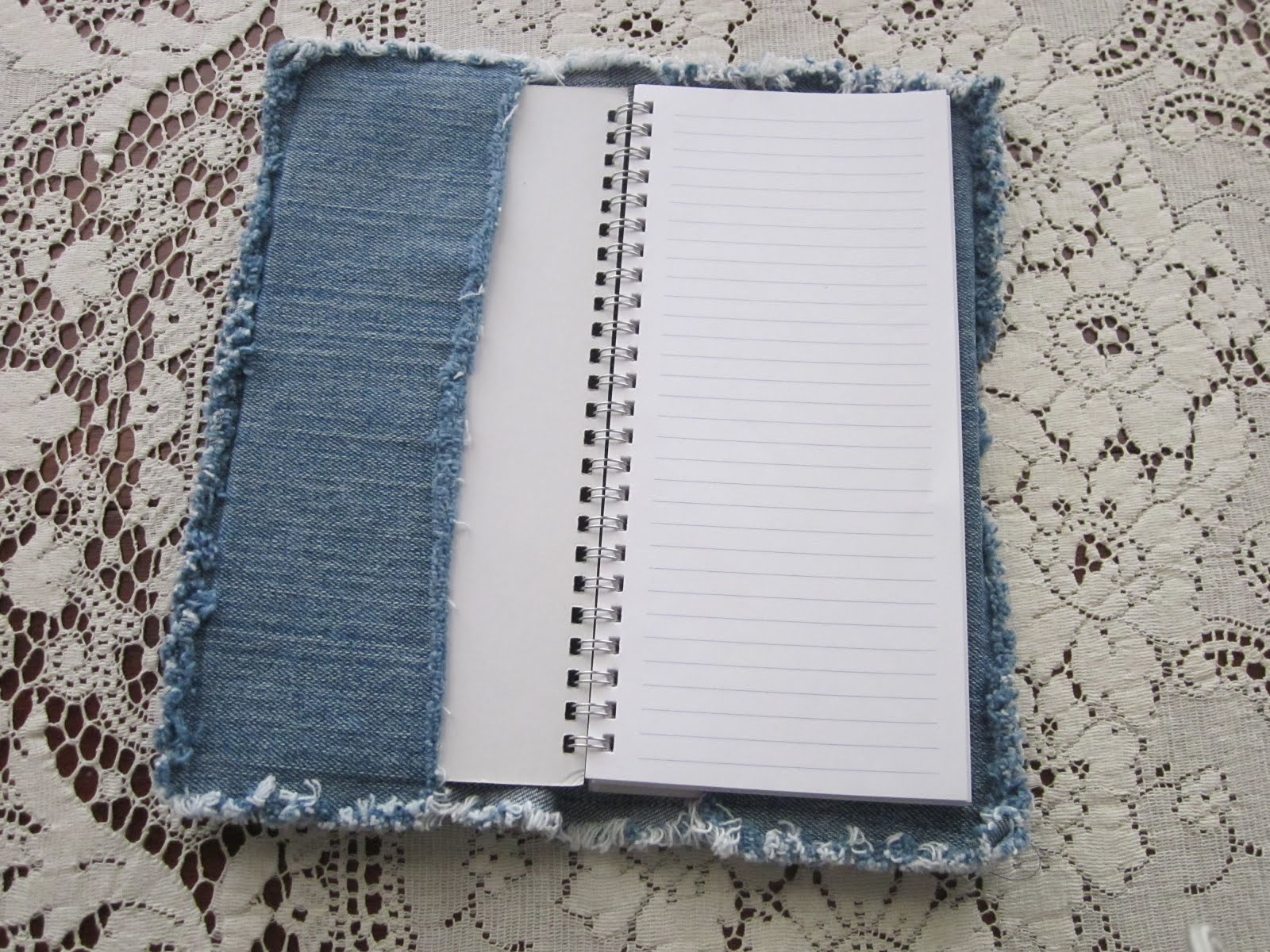 Denim Book Cover Diy : Blue janes bags diy recycled denim notebook cover
