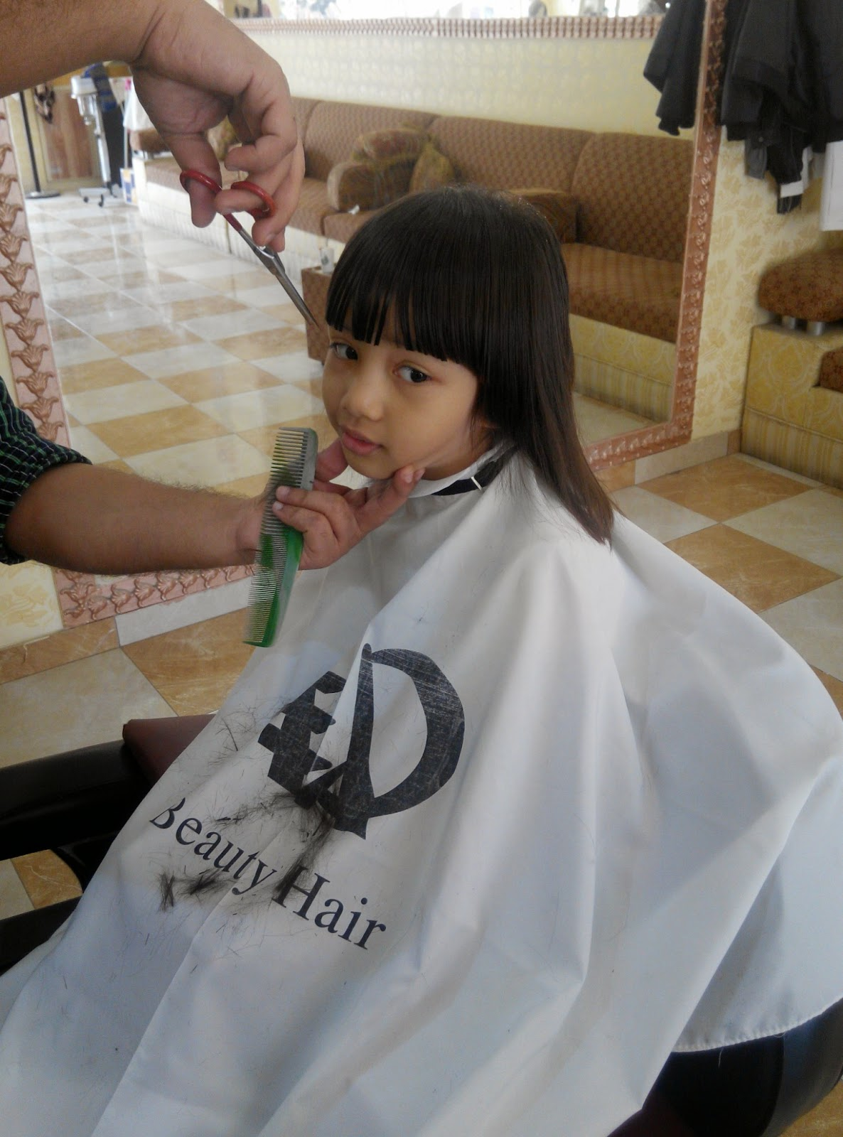 My Random Ramblings My 1st Children Haircut In Saudi