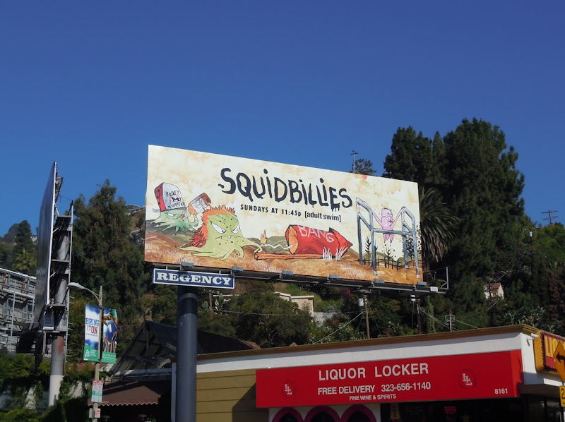 Squidbillies Adult Swim billboard