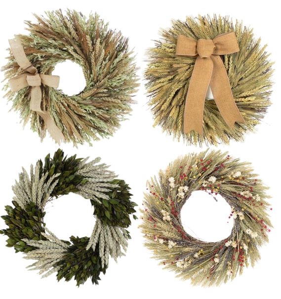 Love this round-up of 25 budget friendly fall wreaths. They're all under $50!