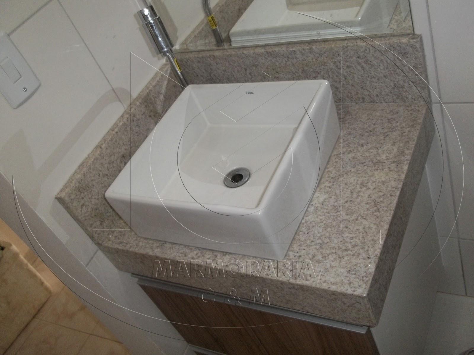 Lavatório em Granito Branco Siena Marmoraria Goiás e Minas #5D5041 1600x1200 Banheiro Com Granito Branco Siena