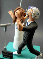 football fans wedding cake topper