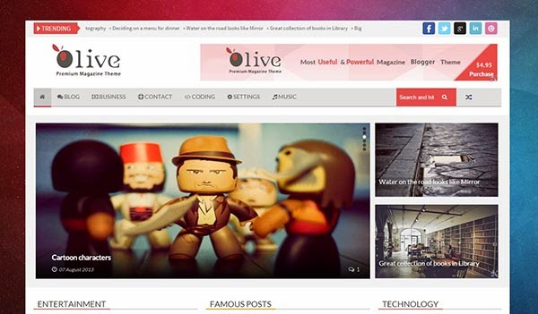Olive Premium Responsive Template for Blogger