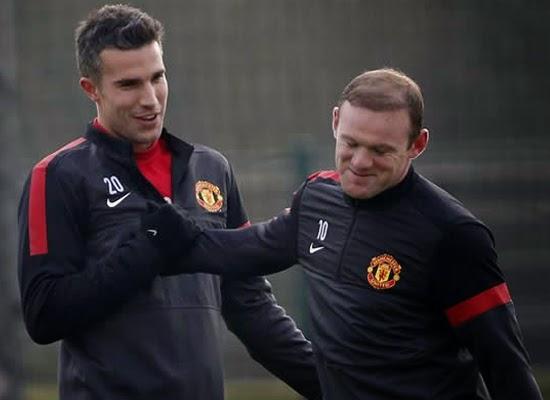 Rooney+Van Persie Manchester United 2014