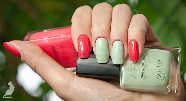 Avon Honeydew Dazzle + Avon Seduce Me Strawberry