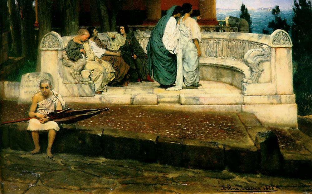 alma-tadema exedra painting