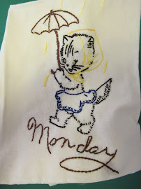 From a Set of 7 Days of the Weeks Dish Towels