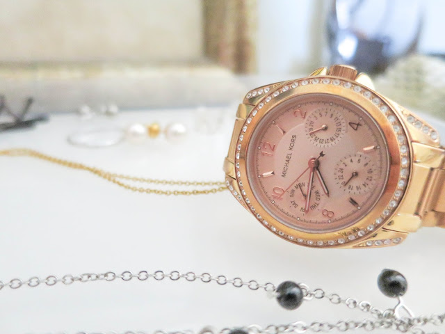 michael kors, watch, rose gold
