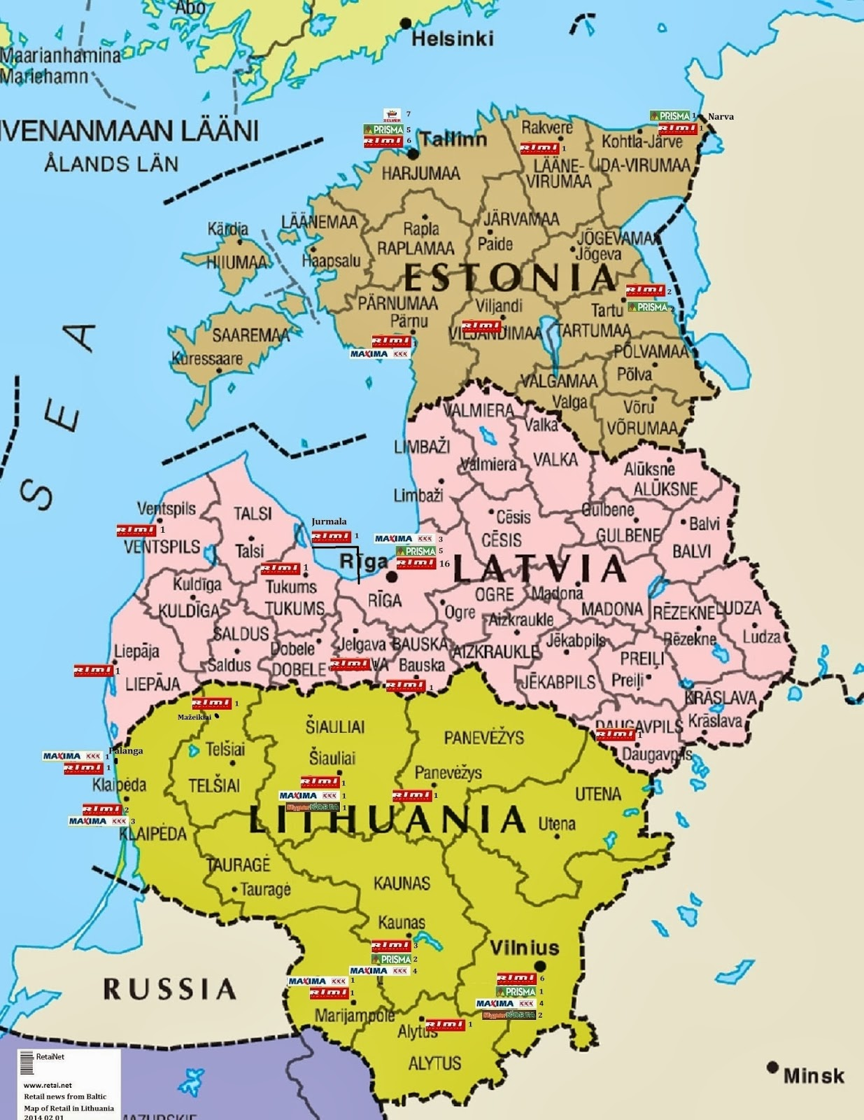 Lithuania Odessa Map