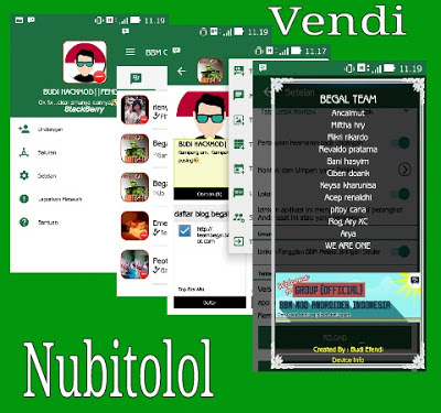 Download BBM MOD Android  Beta Tema Green Teal Version 2.9 Apk