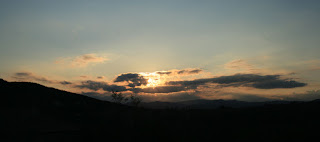 Saying goodbye to the sun last night