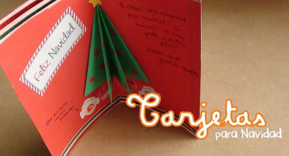 Home kids inspiraci n y creatividad como hacer una - Como hacer tarjetas de navidad ...