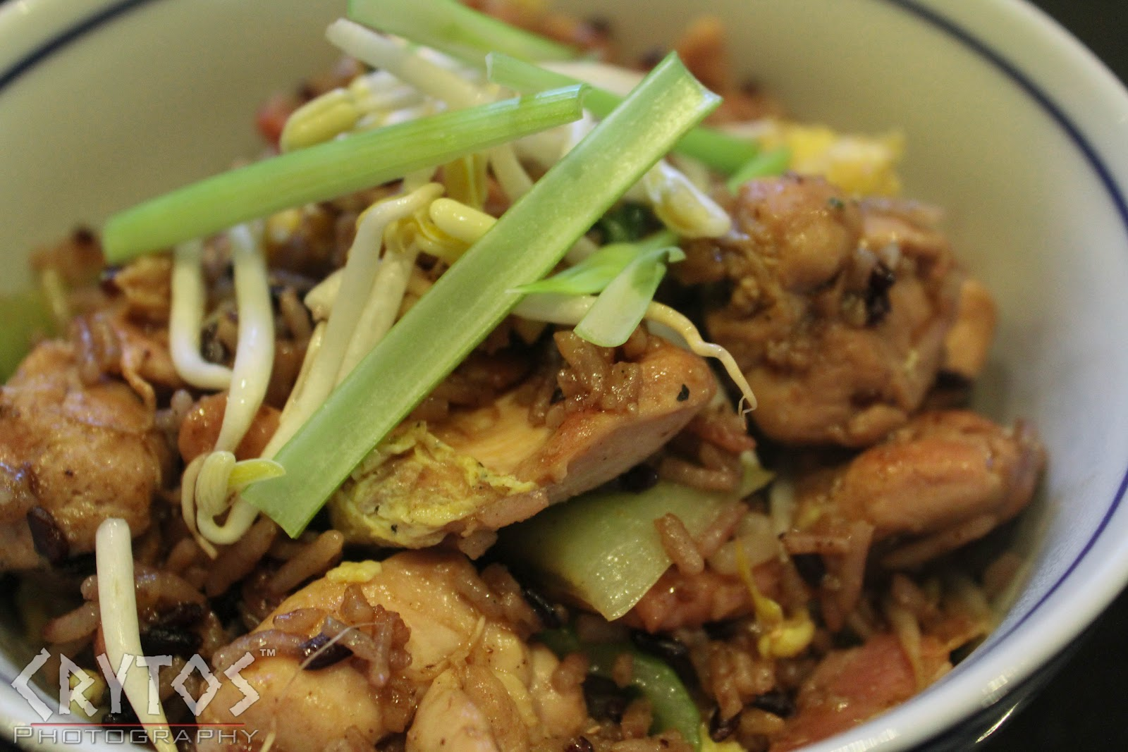 Chicken and Bok Choy Black Fried Rice | Crytos: Food