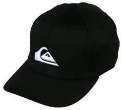 Gorra QuickSilver negra logo blanco